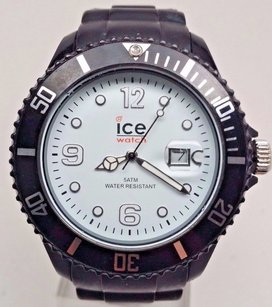Ice Ice Sili Black-white Big Date Watch Braided Band 45mm Si.bw.b.s.10