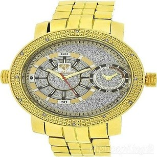 Ice Mania Mens Genuine Diamonds Gold Finish Ice Mania Watch Jojo King Rodeo Aqua Watch