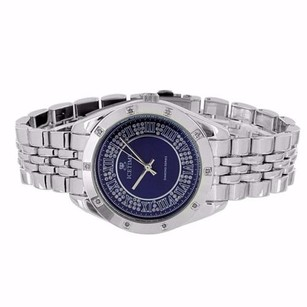 IceTime Genuine Diamond Watch Blue Dial Icetime Analog Jubilee Band Elegant Mens Mm