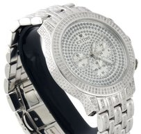 IceTime Mens Icetime Diamond Band Watch 45mm Case Crushed Illusion Dial Prince Ct.