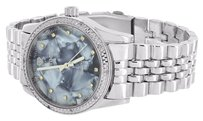 IceTime Mens Real Diamond Watches Icetime Mop Mother Of Pearl Dial Jubilee Design Band