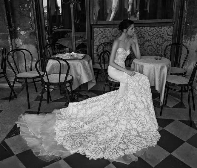 Inbal Dror Wedding Gowns For Sale: Inbal Dror Ivory/Nude Lace Br 15-16 Wedding Dress Size 4