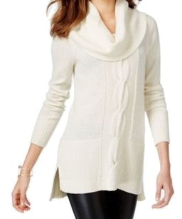 INC International Concepts 5d487wh899 Cowl Neck Long Sleeve Polyester 3515-0197 Sweater