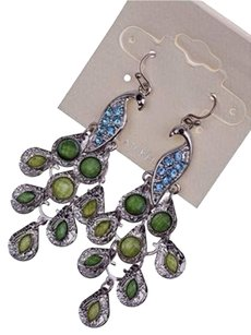 INC International Concepts Peacock Dangle Earrings