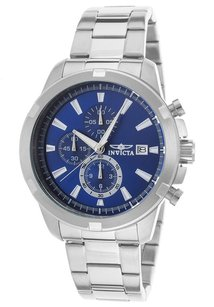 Invicta Invicta 19221 Specialty Chronograph Stainless Steel Blue Dial