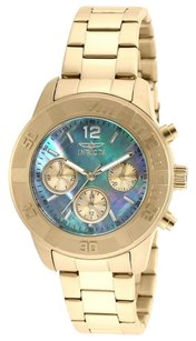 Invicta INVICTA Angel Mother of Pearl Dial Gold-tone Stainless Steel Ladies Watch IN21612