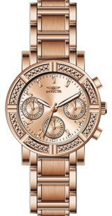 Invicta INVICTA Wildflower Rose Dial 18kt Rose Gold Ion-plated Ladies Watch IN14874