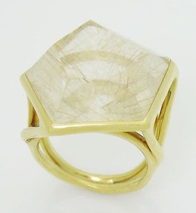 Ippolita Ippolita 18k Yellow Gold Quartz Rock Candy Pentagon Ring R332