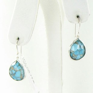 Ippolita Ippolita Wonderland Earrings Teardrop Bronze Turquoise Quartz Dblt 925