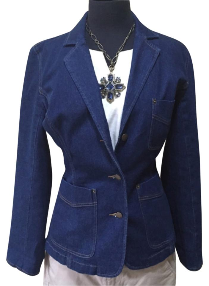 Isaac Mizrahi for Target Blue denim Blazer ...
