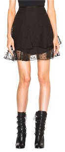 Isabel Marant 38 Black Embroidered Fr Nm Skirt