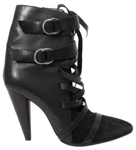 Isabel Marant Leather Strappy Black Boots