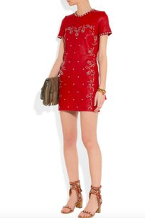 Isabel Marant Leather Red Dress