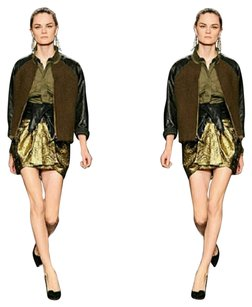 Isabel Marant Mini Skirt Gold