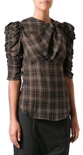 Isabel Marant Plaid Top Brown