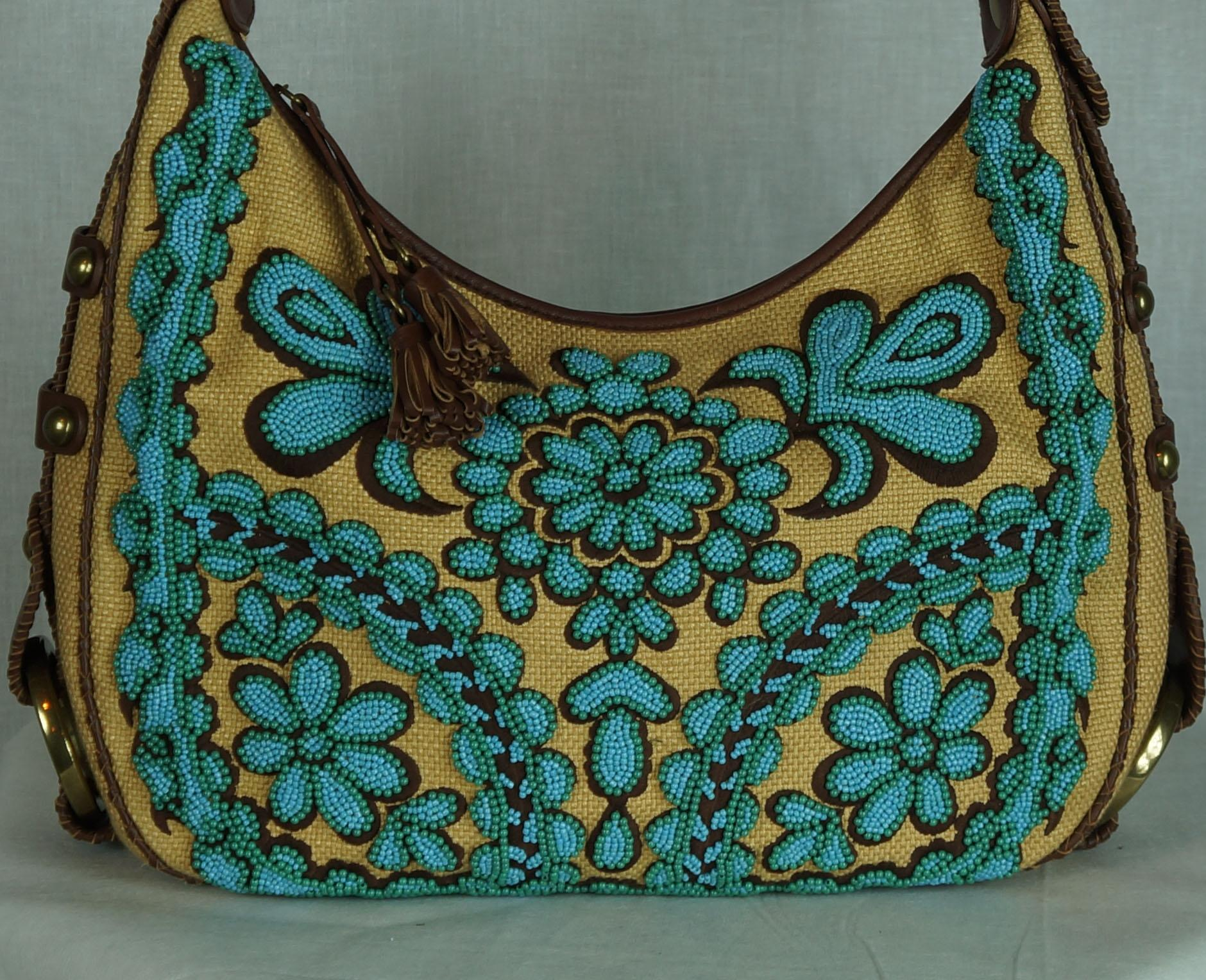 Isabella Fiore Beaded Embroidered Handbag Hobo Bag | Hobos on Sale