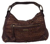 Isabella Fiore Woven Leather Shoulder Bag