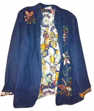 Alfred dunner womens jean jacket 52 off tradesy for Alfred dunner wedding dresses