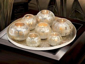 Lot Of 10 Gold Votive Holder Set Exotic Centerpieces Moroccan