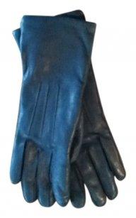 Coach Coach leather & cashmere gloves