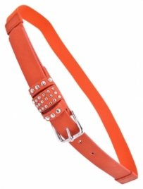 BRAND NEW STUDDED SKINNY BELT IN ORANGE