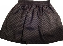 Sound & Matter Patterned Mini Skirt grey