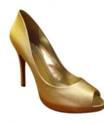 BCBGeneration Linen Metalic Formal Golden Pumps