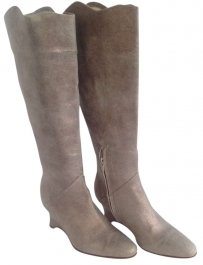 Calypso St. Barth Leather Metallic Detail Bronze Boots