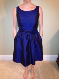 Ann Taylor Midnight Blue Silk Dupioni Dress