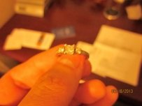 Blue Nile Princess Cut Diamond Engagement Ring -