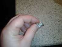 Custom-made White Gold Marquis Engagement Ring
