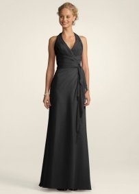 David's Bridal Black F12688 Dress