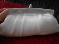 David's Bridal Crystal Trimmed Bridal Clutch Style
