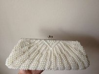 David's Bridal Pearl Clutch