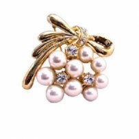 Pearls Gold Brooch Stylish Trendy Cubic