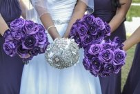 Handmade Crystal Brooch Bouquet