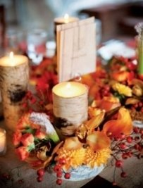 Wedding Centerpieces Natural Birch Log