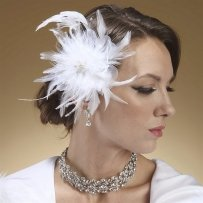 Bridal Feather Fascinator Clip With