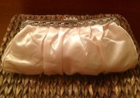 Satin Champagne Pink Clutch Purse