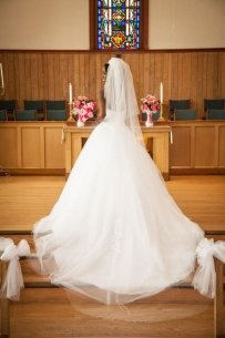 3 Tier Raw Edge Cathedral Veil