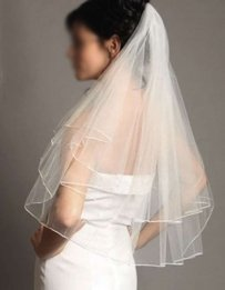 Soft Ivory Veil ( Elbow Length )