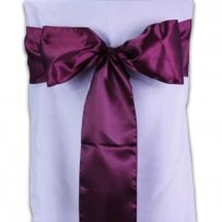 Lot Of 100 Purple Satin Chair Sashes