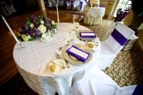 Purple Chair Sashes