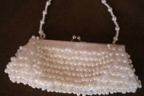 Ivory Pearl Beaded Bridal Purse