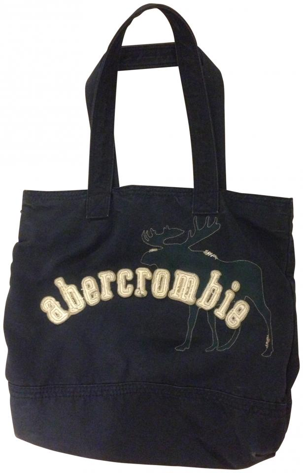 abercrombie fitch abercrombie tote bag navy blue 52