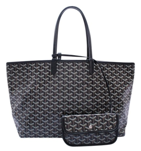 e6bf6179a048 Goyard Large Saint Louis Pm Tote Bag Canvas leather Black Black 72% Off