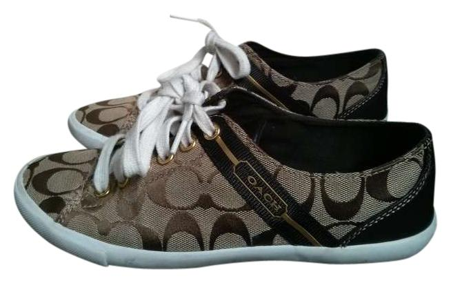 coach brown athletic sneakers size 7 5 34 coach