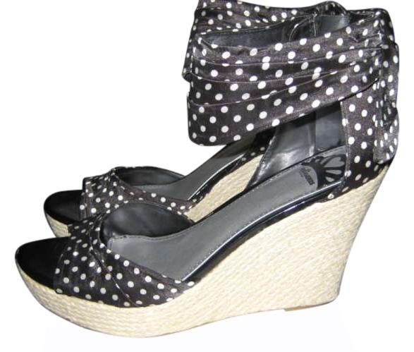 fergalicious black and white wedges kindness size 11 67