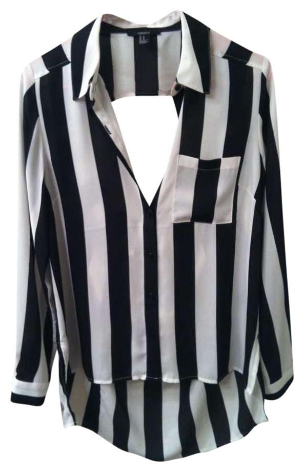 Forever 21 Black And White Referee Draped Soccer Football Collar ...