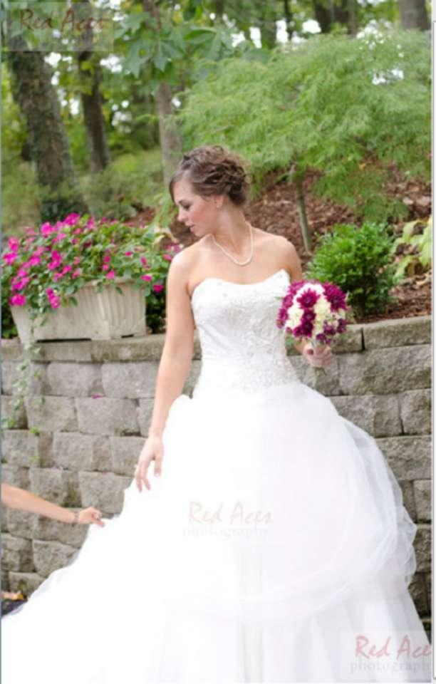 Alfred angelo disney fairy tale bridal belle style 206 for Belle style wedding dress